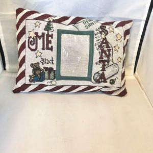 Santa Photo picture (3x5) accent pillow